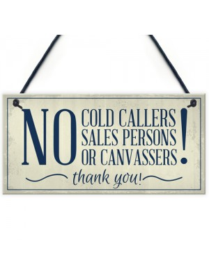 No Cold Callers Canvassers Religious Groups Front Door House