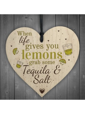 Tequila Funny Pub Friendship Alcohol Gift Wooden Plaque Garden