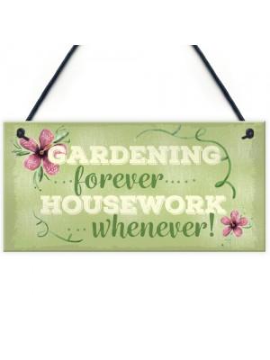 Gardening Forever SummerHouse Sign Garden Shed Mum Nan