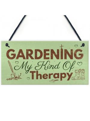 Gardening My Therapy Novelty Plaque SummerHouse Sign Garden