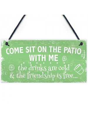 Come Sit Shabby Chic Hanging Wall Signs Garden Shed Plaques