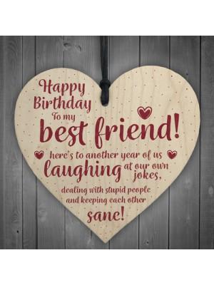 Happy Birthday Best Friend Wooden Friendship Sign Thank You