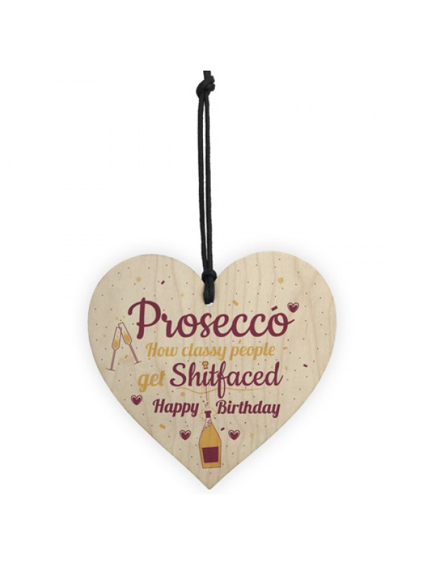 Prosecco Funny Happy Birthday Heart Boyfriend Girlfriend Friend