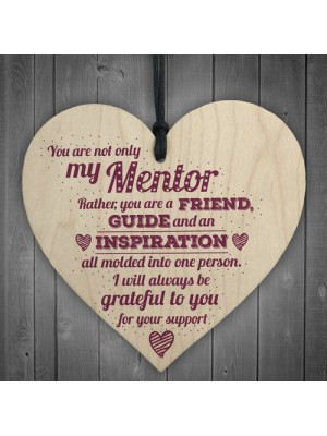 Mentor Friend Teacher Midwife Tutor Plaque Gift Sign Thank You