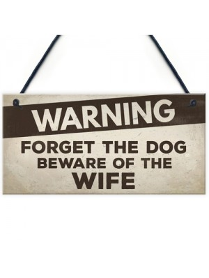 Beware Of The Wife Fathers Day Mum Dad Birthday Gift Garden