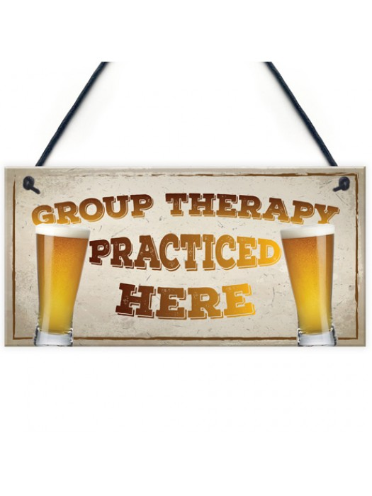 Group Therapy Vintage Retro Wall Decor Bar Pub Plaque Poster