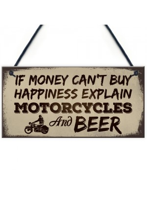 Beer Motorcycle Enthusiast Motorbike Man Cave Signs Garage Him