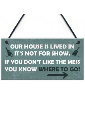 House Novelty Hanging Plaques For Door Shabby Chic Wall Signs