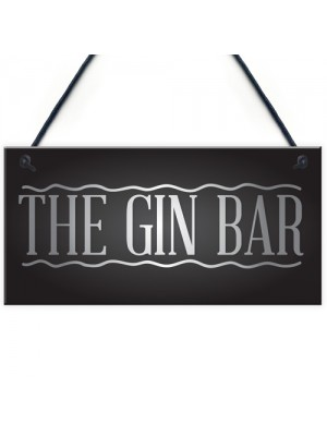 The Gin Bar Garden Party Alcohol Novelty Gift Pub Wall Plaque