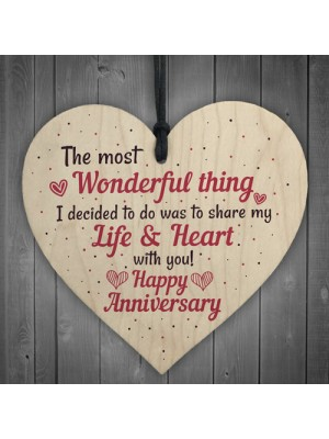 Gifts For Her Wedding Anniversary Card Gifts For Wife Heart