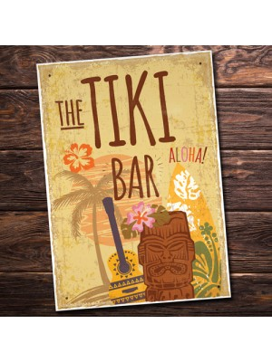 Tiki Bar Vintage Bar Kitchen Man Cave Hanging Plaque Garden Sign