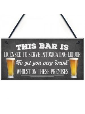 Pub Home Bar Licensee Sign Man Cave Plaque Shed BBQ Garden Sign