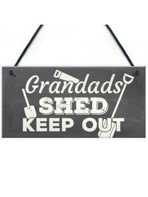 Grandads Shed Workshop Garage Hanging Garden Plaque Gifts