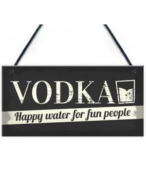 Vodka Novelty Sign Funny Alcohol Man Cave Bar Pub Hanging Plaque