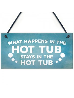 Hot Tub Novelty Garden Hanging Wall Plaque Sign Shed Jaccuzi
