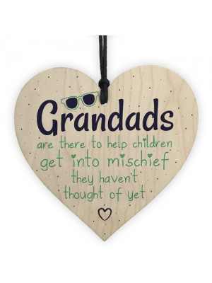 Funny Sign Grandad Birthday Gift Heart Wall Plaque Fathers Day