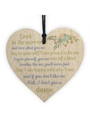 Friendship Sign Inspirational Shabby Chic Heart Plaque Birthday