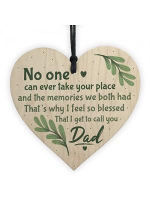 Dad Graveside Memorial Remembrance Heart Grave Plaque