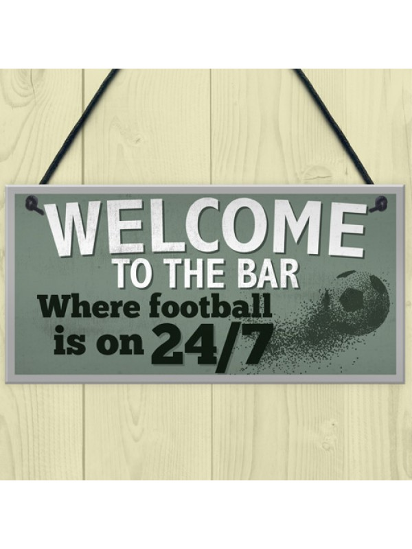 Welcome To The Bar Pub Man Cave Sign Gifts For Men World Cup