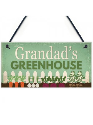 Grandad's Greenhouse Plaque Garden Shed SummerHouse Sign