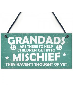 Funny Sign Grandad Birthday Gift Wall Plaque Fathers Day Gifts