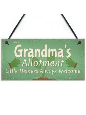 Garden Sign Grandma's Allotment Shed SummerHouse Plaque