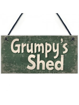Shed Signs Grumpy's Shed House Door Plaque Garden SummerHouse