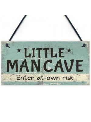 Man Cave Sign Hanging Door Bedroom Wall Plaque Shed Room