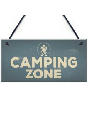 Camping Zone Caravan Signs And Plaques Novelty Chic Mum Dad NAN