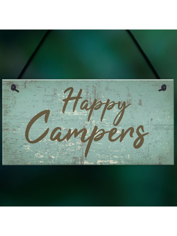 Caravan Signs And Plaques Novelty Camping Holiday Chic Mum Dad