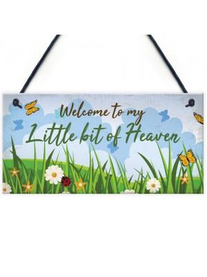 Welcome Garden Hanging Sign Garden Shed SummerHouse Plaque