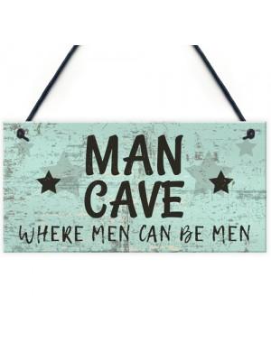 The Man Cave Door Sign Shed Garage Vintage Gift For Dad Grandad