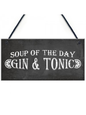 Gin & Tonic Garden Home Bar Pub Plaque Funny Alcohol Sign Gift