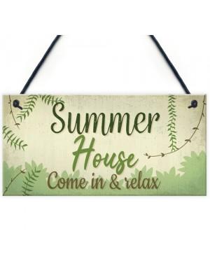 Summer House Plaque Shed Garden Sign Decor Mum Dad Nan Gift