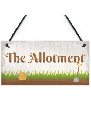 The Allotment Garden Sign Outdoor Shed Plaque Dad Grandad Gift