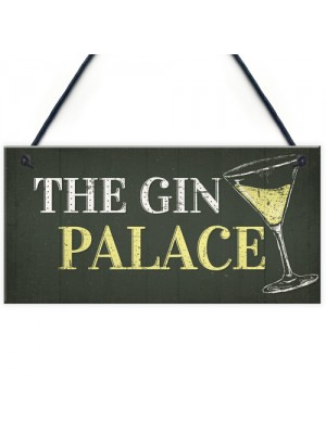 Gin Palace Sign Garden Shed Man Cave Home Bar Pub Plaque Gifts