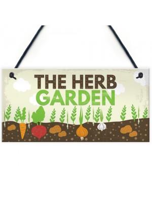 Herb Garden Hanging Sign SummerHouse Garden Shed Plaque