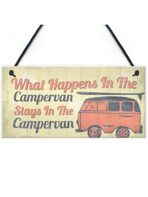 Campervan Caravan VW Gifts Travel Holiday Hanging Door Sign