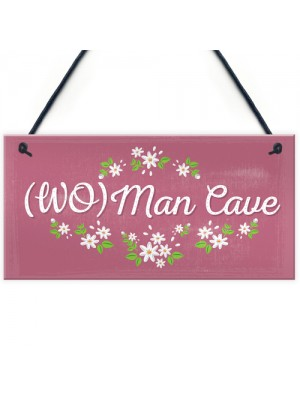 Her Man Cave Sign Funny Bedroom SummerHouse Plaque Gifts