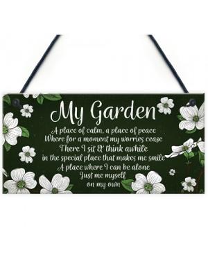 Novelty Hanging Garden Plaque Present Home Fence Shed Sign