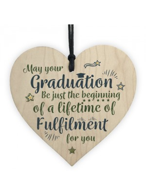 Graduation Gifts Keepsake Wooden Heart University College Degree