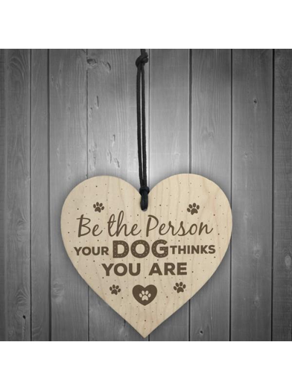 Funny Dog Lovers Sign Heart Door Kennel Cage Plaque Dog Owner
