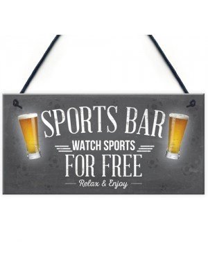 Sports Bar Man Cave Bar Pub Football Hanging Sign Plaque Gift