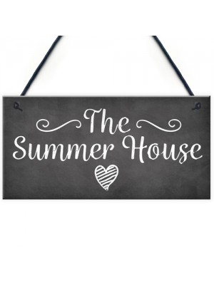 The Summer House Plaque Garden Shed Hanging Wall Door Sign