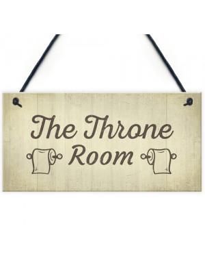 The Throne Room Toilet Bathroom Plaque Shabby Chic Ladies Gents