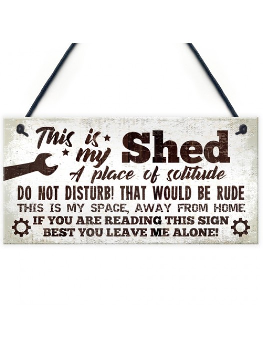 Garden Shed Garage Man Cave Sign Hanging Wall Plaque Gift