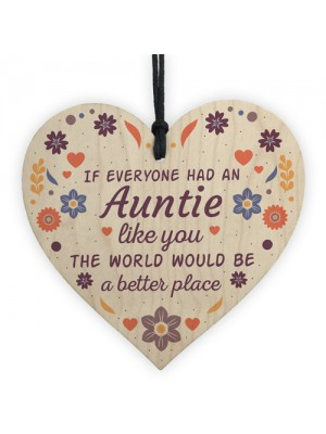 Handmade Auntie Gifts Chic Wooden Heart Thank You Gifts For Her