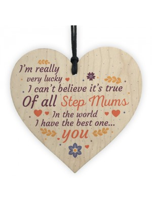 Handmade Best Stepmum Novelty Plaque Gifts For Mum Thank You