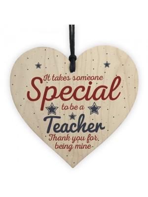 Handmade Hanging Heart Gift For Teacher Leaving Present Keepsake