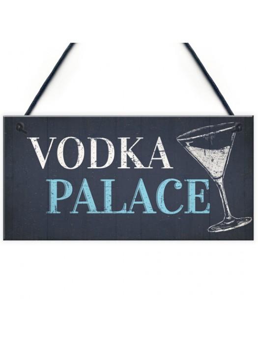 Vodka Palace Alcohol Gift Man Cave Home Bar Pub Plaque Sign